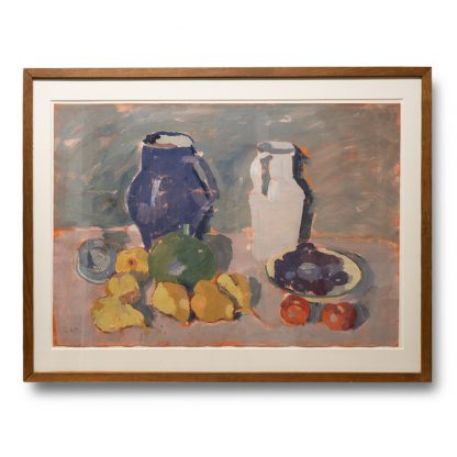 Albert Wigand (1890 – 1978), Still life with blue and white jug, around 1919.