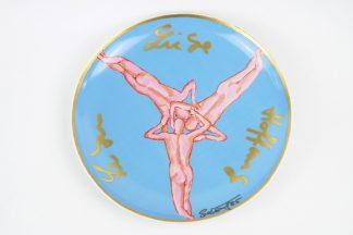 """Salomé (d.i. Wolfgang Cihlarz) (1954), Rosenthal artist's plate """"Leben, Liebe, Hoffnung"""", 1986."""