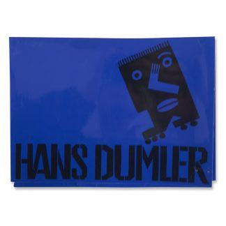 Hans Dumler (1922-2017), Blau auf Gelb, 1995.