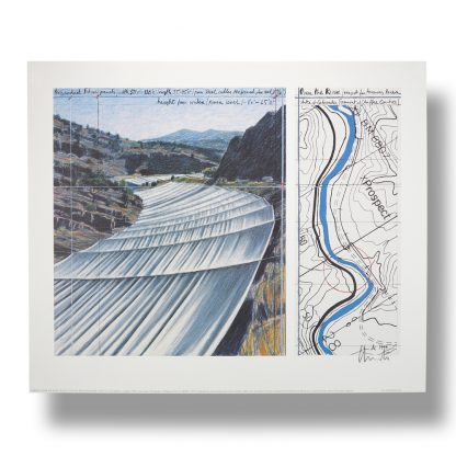 Christo (1935), Over the river, project for the Arkansas river, State of Colorado, 1999.