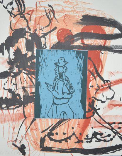 David Salle, (1952), Liveley Iris, 1992.
