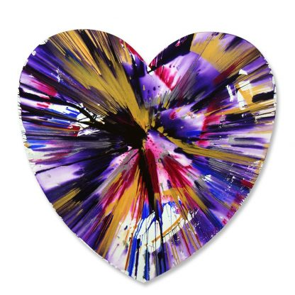 Damien Hirst (1965), Heart Spin Painting, 2009.