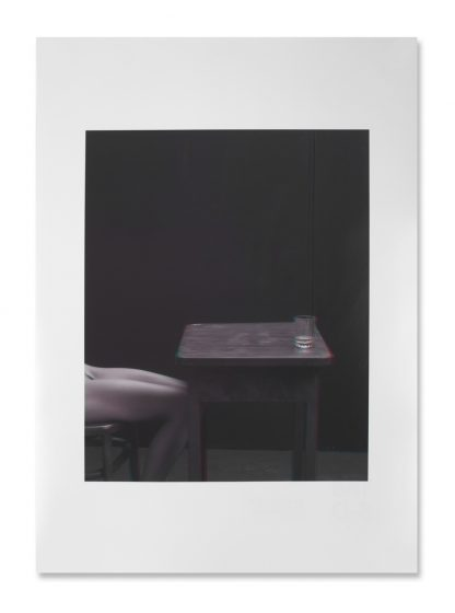 Horst Stasny (1941), Glas Wasser auf dem Tisch (Glass of water on the table), 2016.