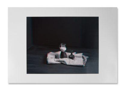 Horst Stasny (1941), Stillleben mit Teppich, Holzformen, Vase und Milchkrug, (still life with carpet, wooden forms, vase and milk jug), 2016.