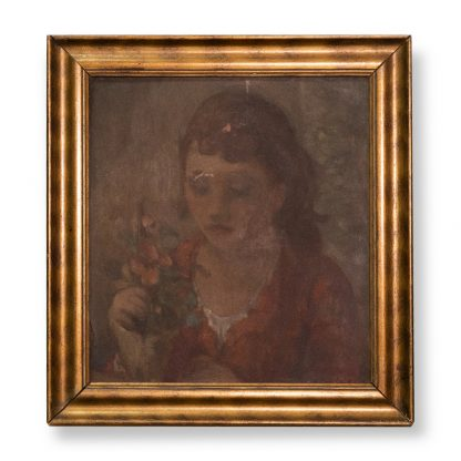 Otto Theodor W. Stein (1877-1958), Untitled, (Portrait of a girl with a flowering plant), around 1926/35.