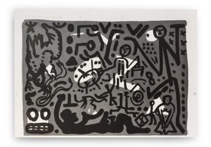 A.R. Penck (1939-2017), from: Lausanne Suite, 1990.