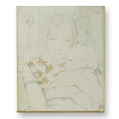 Jan Heyse (1882-1954), Mother with Child (Madonna), 1910.