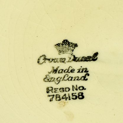 """Crown Ducal, C.W. Anderson, 2 Cocktail Plates, """"Bacardi"""" and """"Side Car"""", 1920s to 1940s."""