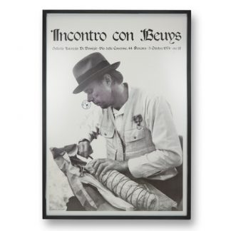 "Ausstellungsplakat:Joseph Beuys (1921-1986),""Incontro con Beuys"", 1974."