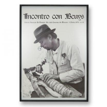 """Exhibition poster: Joseph Beuys (1921-1986), """"Incontro con Beuys"""", 1974."""