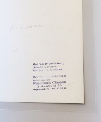 Rosemarie Clausen (1907-1990), Helmut Lohner, without Year.