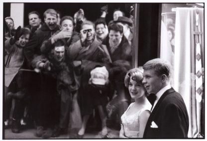 Robert Lebeck (1929 - 2014), Romy Schneider and Hardy Krüger, Hilton Berlin, Film Ball 1959.